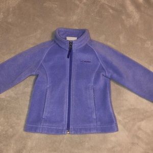 Columbia little girls zip up jacket